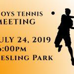 Boys Tennis Meeting
