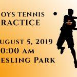 Boys Tennis 1st Practice