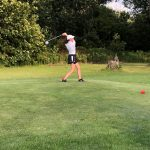 Girls Varsity Golf Splits DAC triangular match