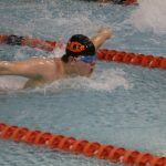 Boys Varsity Swimming falls to Hobart 105 – 67