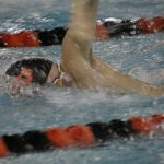Boys Varsity Swimming beats Merrillville 105 – 54