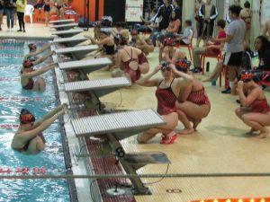 LaPorte Girls Swimming vs Merrillville (Senior Night)