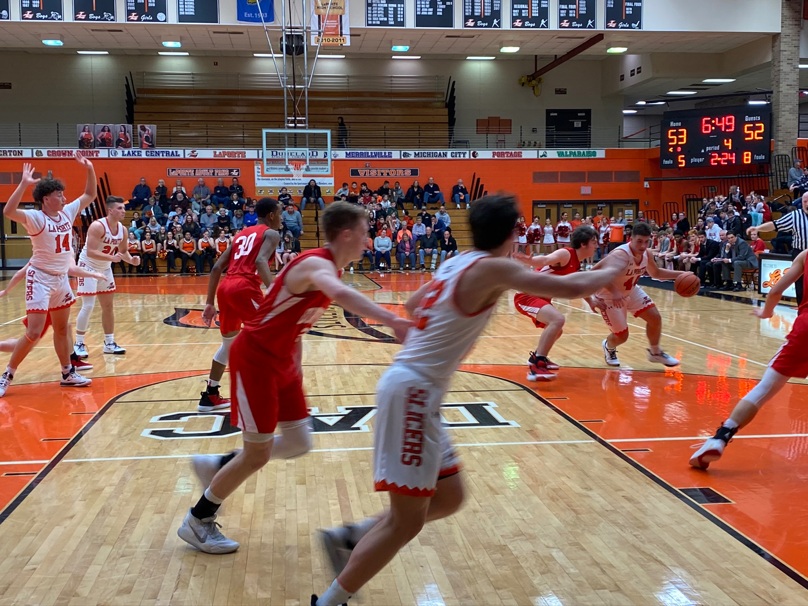 Boys Varsity Basketball falls to Merrillville 63 – 56
