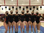 Girls Varsity Gymnastics finishes 1st place at Plymouth High School