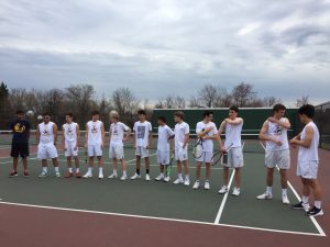 Boys Varsity Tennis – v. Blair 3-29-19