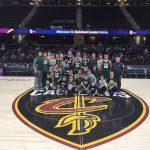 Varsity Boys Basketball and Cheer Team Photos at Quicken Loans Arena