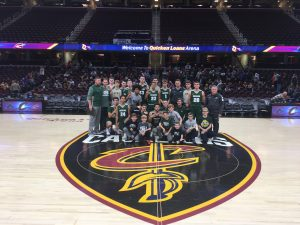 Varsity Boys Basketball and Cheer Team Photos at Quicken Loans Arena