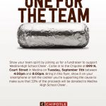 Cheerleading Dine to Donate Opportunity at Chipotle – 9/11/18
