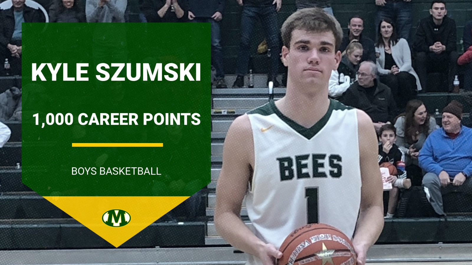 Congratulations to Kyle Szumski on Scoring his 1,000th Career Point