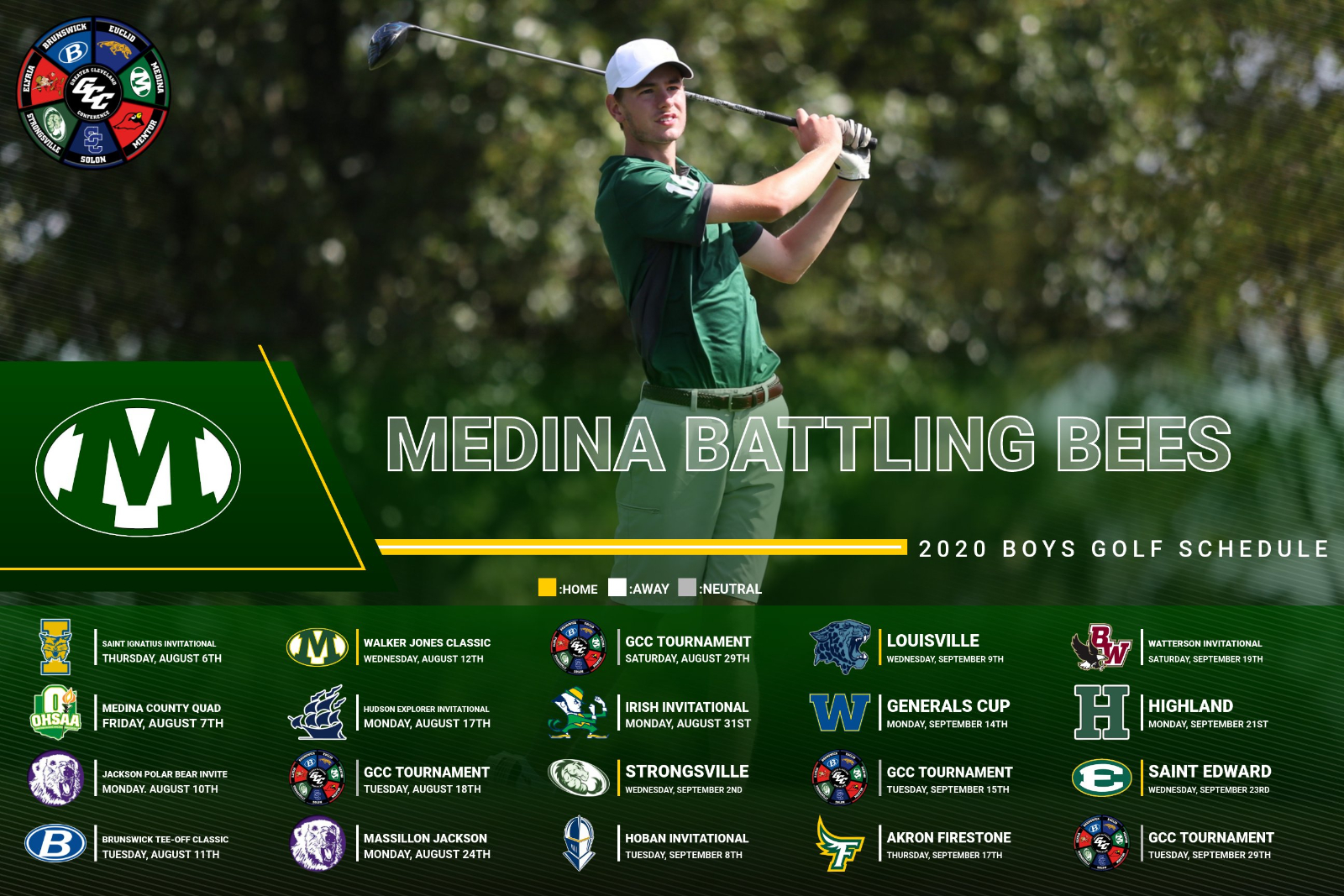 2020 Boys Golf Varsity Schedule