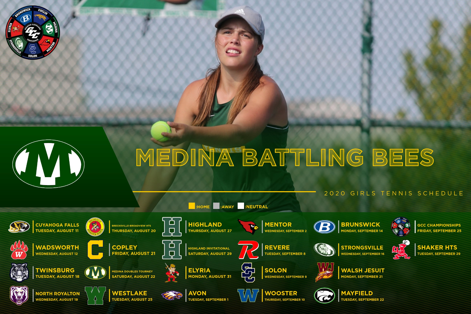 2020 Girls Tennis Varsity Schedule