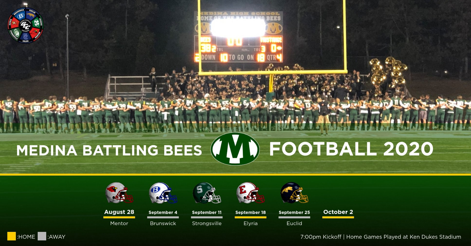 2020 Varsity Football Re-revised Schedule