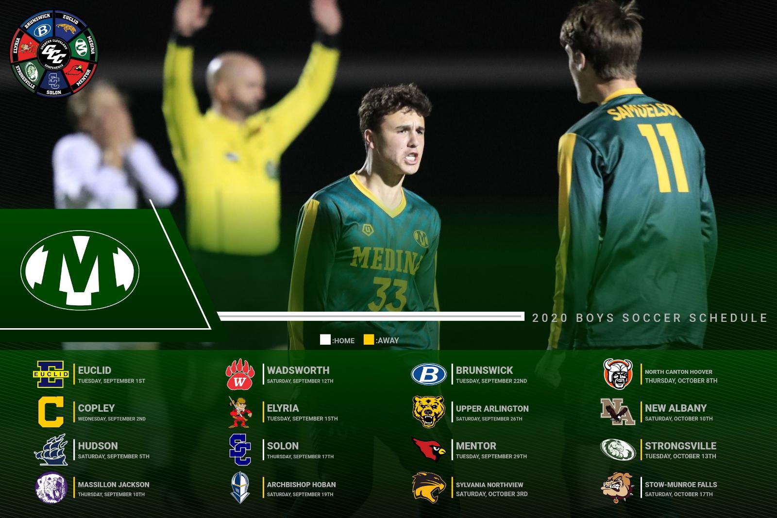 2020 Varsity Boys Soccer Schedule