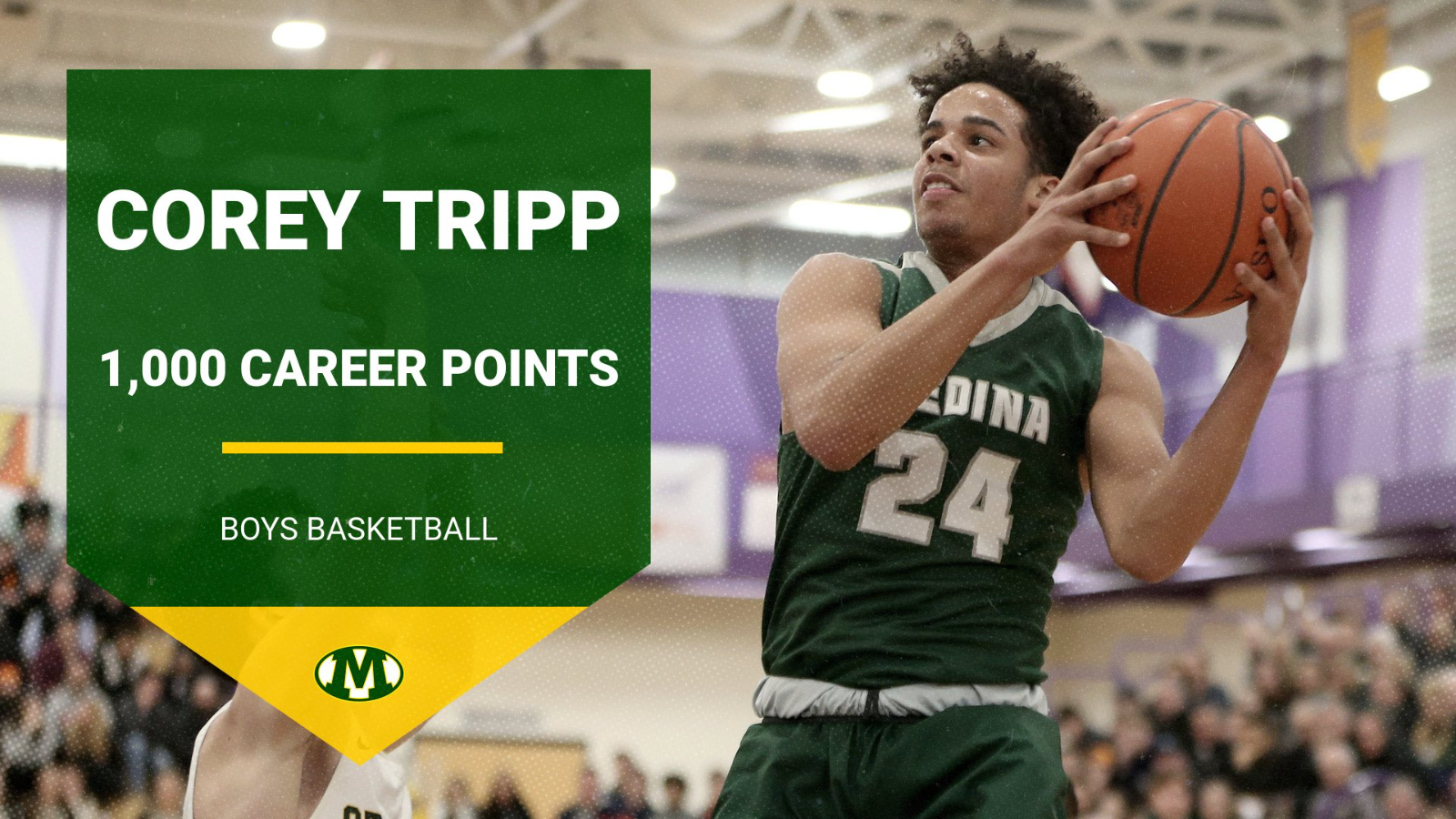 Congratulations to Corey Tripp on Scoring his 1,000th Career Point