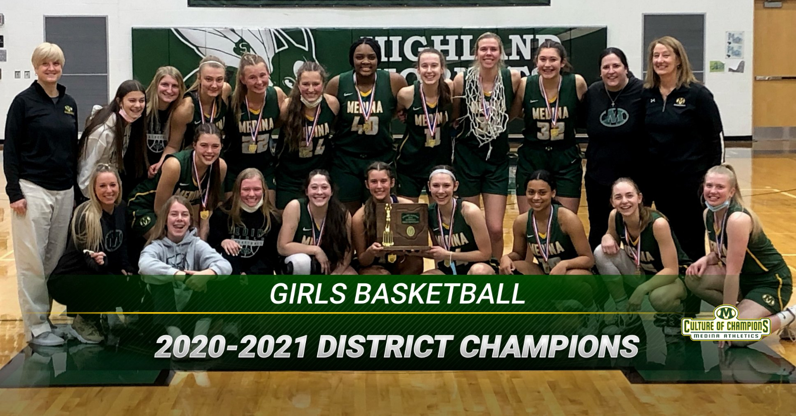 2020-21 OHSAA Division I Girls Basketball District Champions