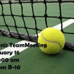 Tennis Team Meeting