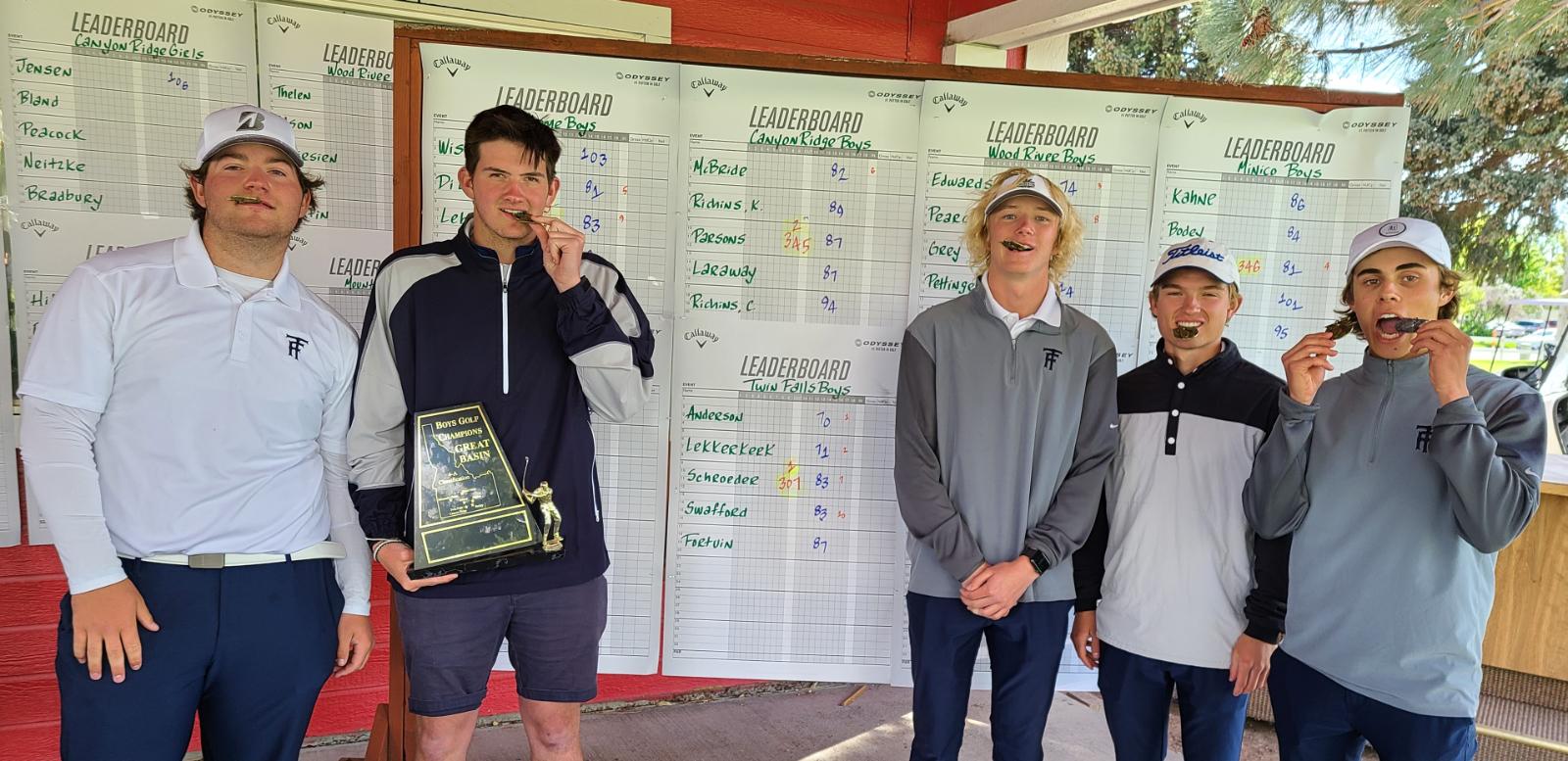 TFHS Bruin Boys Take 1st at District Golf