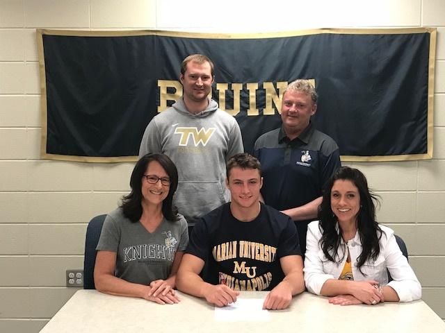 Logan Blake Signs to play Football at Marian University