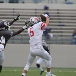 Peoples' four TD runs, Vaughn's two takeaways bolster Tigers win over University 49-12