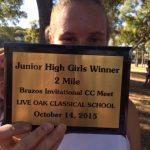 NBMS Girls XC Brazos Park