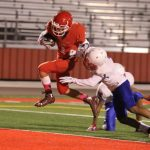 Freshman Red drive halted late, falls to Midway 14-13