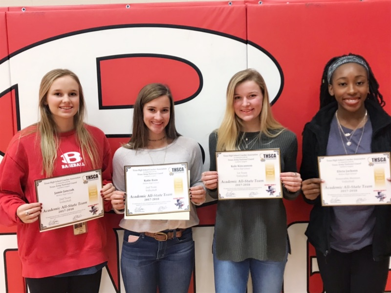 THSCA Academic All-State Volleyball