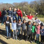 Tennis Teams helps clean up Nolan Creek