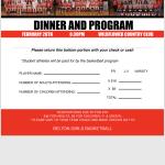 Girls Basketball Banquet February 28, 2018