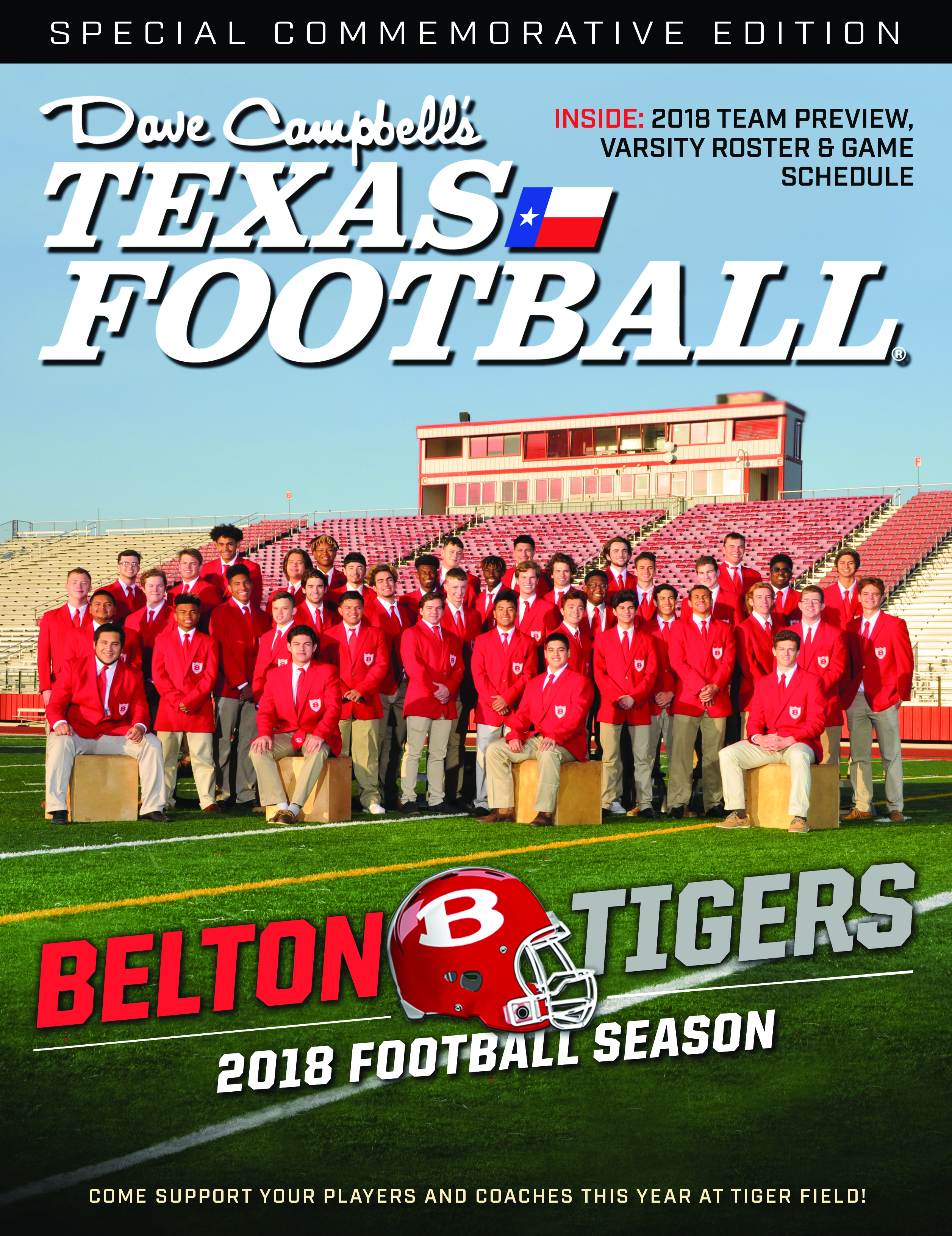 Dave Campbell Texas Football Magazine – Belton Edition
