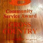 Belton Cross Country Program receives Community Service Award!!