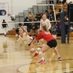 Lady Tigers Volleyball sweeps Shoemaker on all three levels