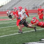 Freshman Red converts opportunities to points in 61-20 win over Waco