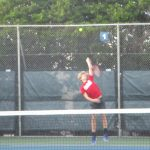 JV Tennis plays hard, but falls to the Eagles