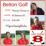 Girls Golf Itinerary for Thursday 2/14