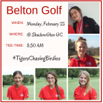 Girls Golf Itinerary for Monday 2/25