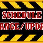 Boys Track Schedule Change