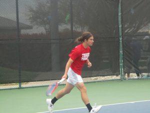 Tiger Tennis at District Tournament