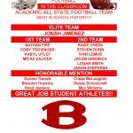 Academic All State Football Team