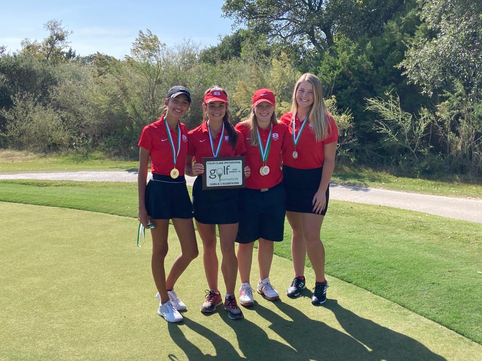 Lady Tiger Golf wins Burnet Fall Classic