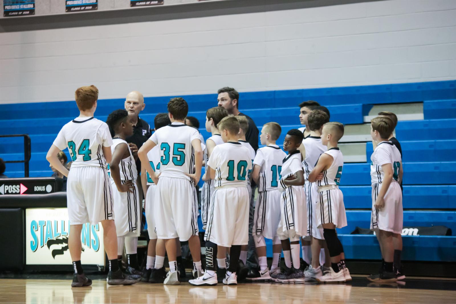 Boys Middle School Basketball- 2019