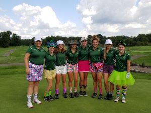 Girls Golf Team defeated Perry 157-187