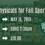Sports Physical at GlenOak on May 15th