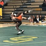 Wrestling match pictures from Senior night.
