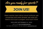 CLICK HERE Athletics Open House Sept 24 @6pm