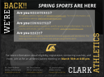 SPRING SPORTS ARE HERE!!!