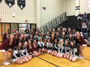 Licking Heights Cheer Supports Westerville