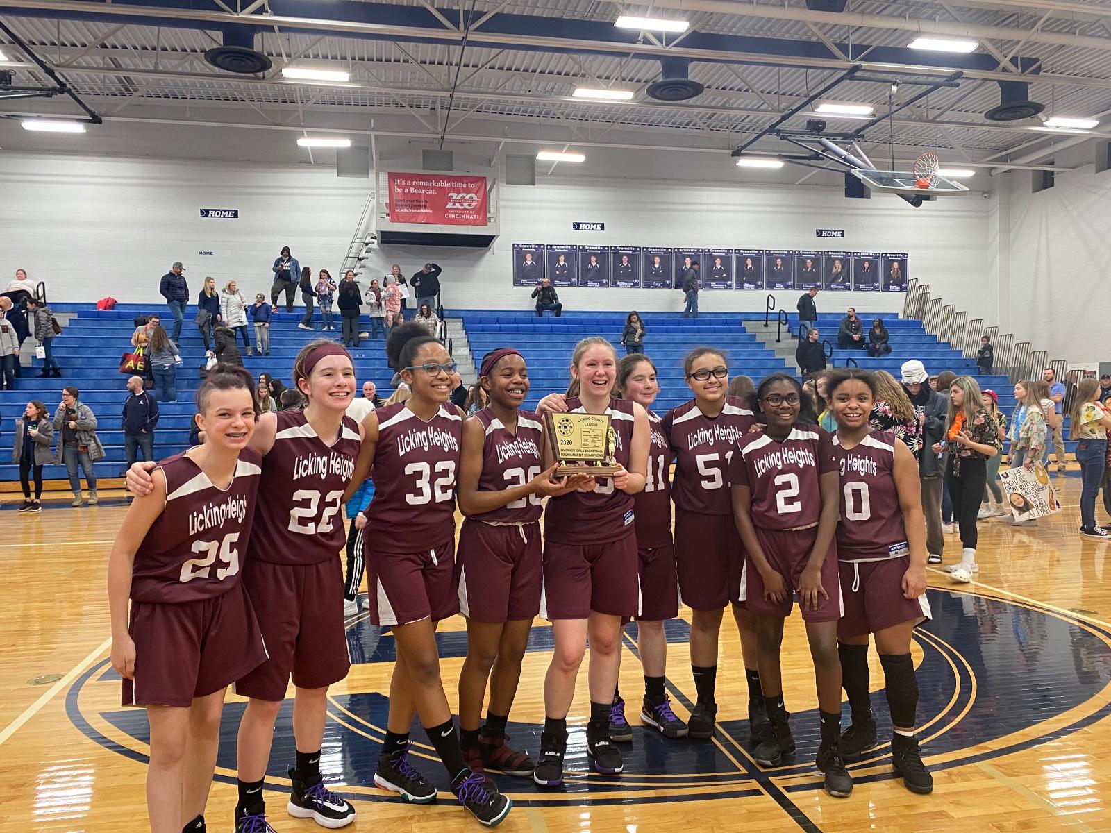 Congratulations 8th Grade Girls Basketball
