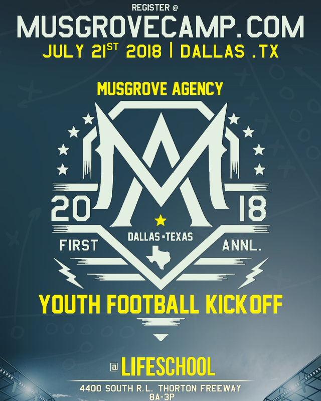 Youth Football Kickoff Camp hosted by The Musgrove Agency