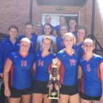 Varsity Volleyball takes home the Cardinal Ritter Tournament Championship