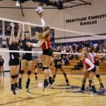 Volleyball Sweeps Heritage Christian Monday